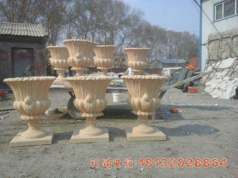 欧式花盆石雕