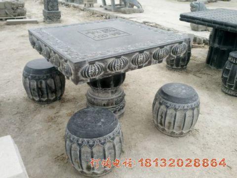 公园青石桌凳