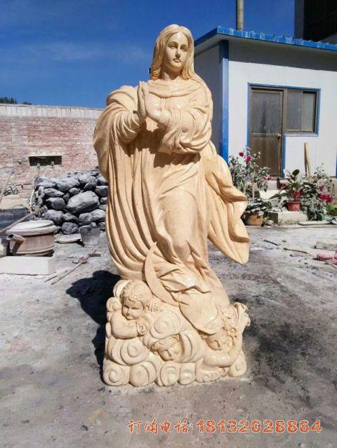 砂岩西方人物石雕