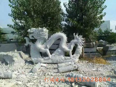 公园石雕龙