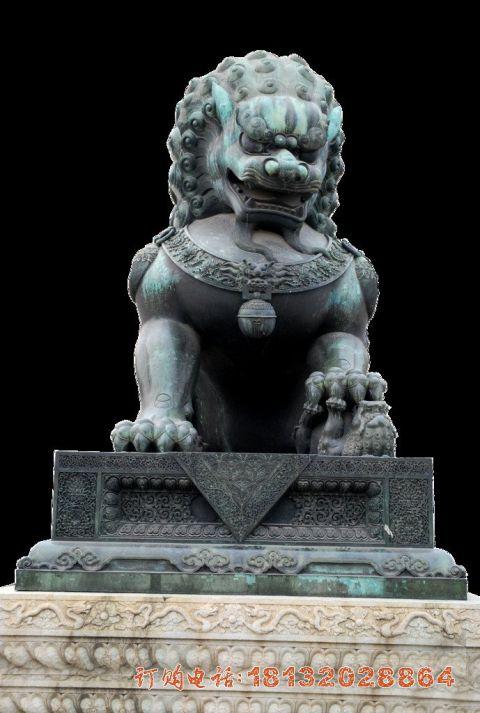 镇宅狮子铜雕