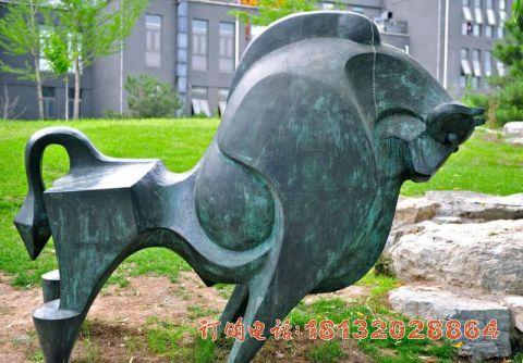 抽象青铜牛必威体育娱乐