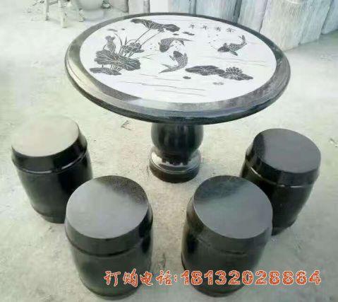 石雕圆桌凳