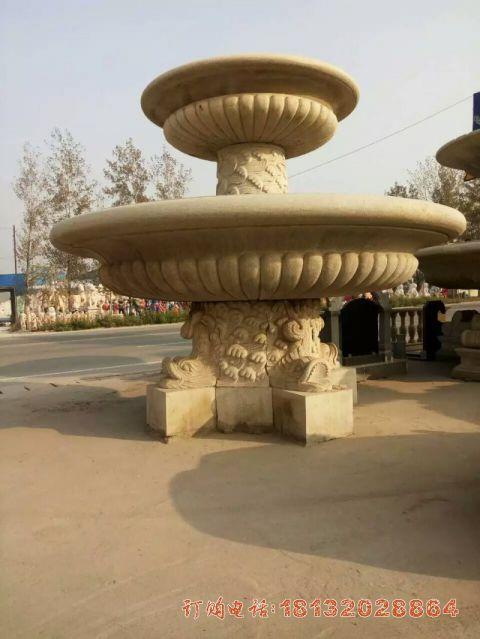 欧式双层喷泉石雕