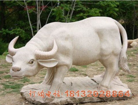 公园石雕牛