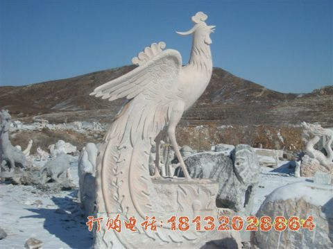 公园凤凰石雕
