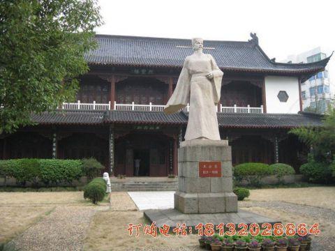 校园人物王安石石雕
