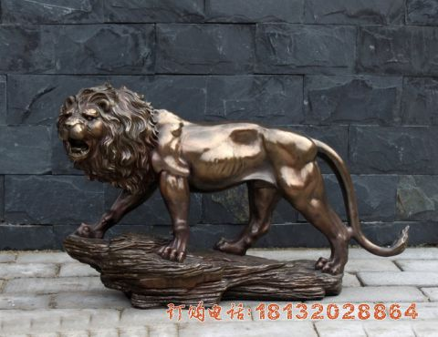 动物铜雕狮子