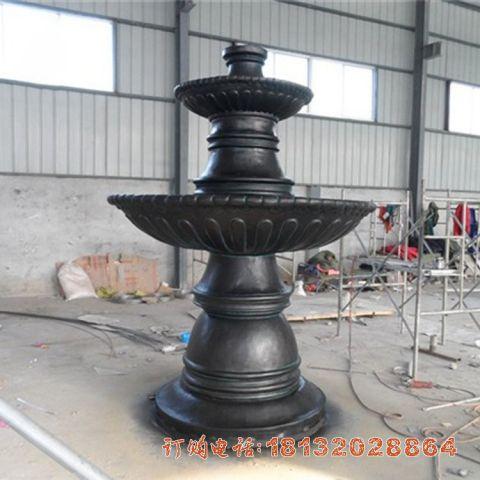 铸铜简约双层喷泉