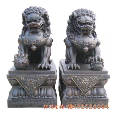 铜雕天安门故宫狮子