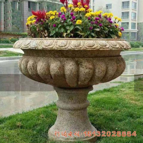 花岗岩小区花盆石雕
