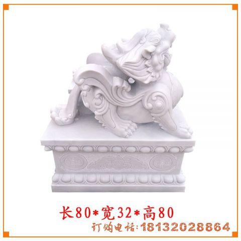 汉白玉门口貔貅石雕